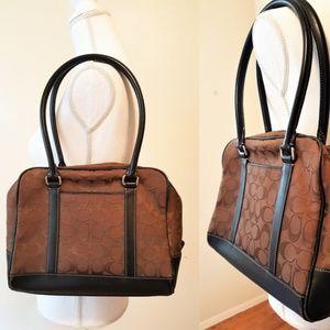 JAPAN COACH Signature Canvas Tote Zip Shoulder Bag